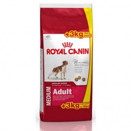 Croquettes Royal Canin Medium Adult 15 + 3 kg