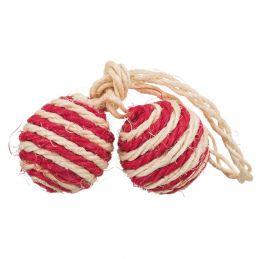 Lot de 2 balles sur corde Trixie  TRIXIE 4011905040776 Balles, cannes à pêche, souris, peluches