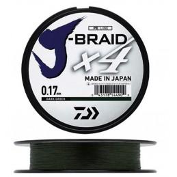 Tresse j braid X4 brins green daiwa DAIWA  Petit matériel carpe