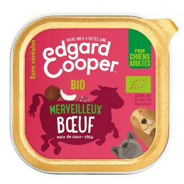 Pâté Edgar Cooper Merveilleux Boeuf Edgar Cooper 5425039486444 Paté pour chien