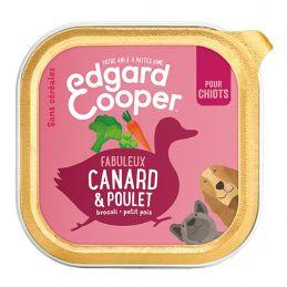 Pâté Edgar Cooper Canard et Poulet Chiot  Edgar Cooper 5425039486390 Paté pour chien