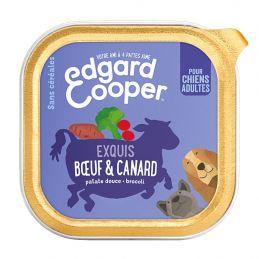 Pâté Edgar Cooper Boeuf & Canard Exquis  Edgar Cooper 5425039486383 Paté pour chien