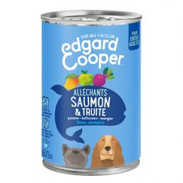 Pâté Edgar Cooper Saumon et Truite  Edgar Cooper 5425039486420 Paté pour chien