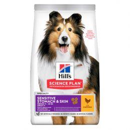 Hill's Medium Sensitive Stomach & Skin Poulet HILL'S  Croquettes Hill's
