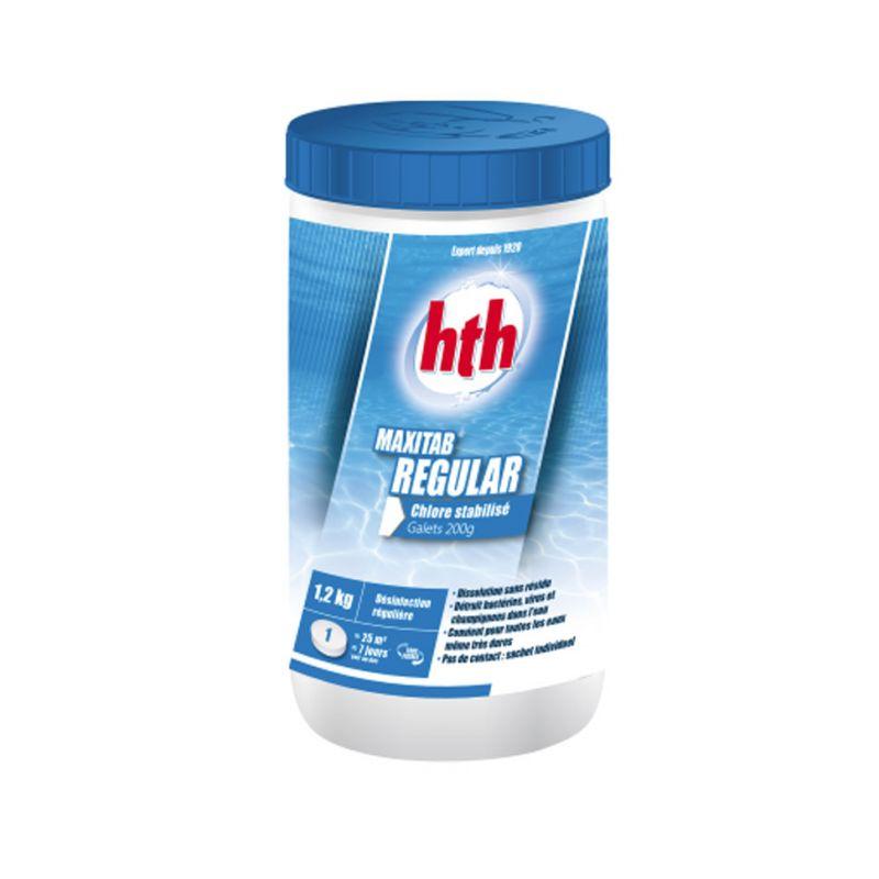 MaxiTabGalets chlore stabilisé HTH 1.2 kg