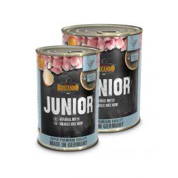 Boîte Belcando Junior Volaille, oeuf BELCANDO  Paté pour chien