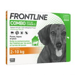 Frontline Combo Chien 2-10 kg  FRONTLINE  Pipettes