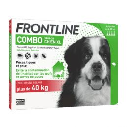 Frontline Combo Chien 40 60 kg 4 Pipettes FRONTLINE 3661103047209 Pipettes