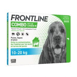 Frontline Combo Chien 10 20kg 4 Pipettes FRONTLINE 3661103047186 Pipettes