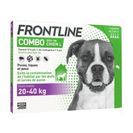 Frontline Combo Chien 20 40 kg 4 Pipettes FRONTLINE 3661103047193 Pipettes