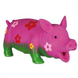 Trixie cochon 'fleurs' en latex TRIXIE 4011905351858 Cordes, jouets à mordre
