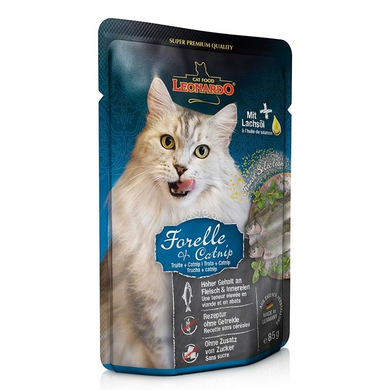 Terrine Leonardo Truite & Catnip LEONARDO 4002633756411 Boîtes, sachets pour chats