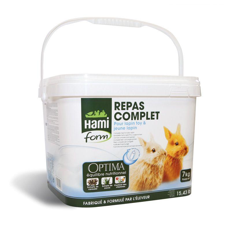 Hami Form Repas complet jeune lapin 7 kg HAMI 3469980005936 Alimentation