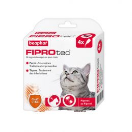 Pipettes antiparasitaires Fiprotec chat BEAPHAR 87112311574815 Pipettes et spray