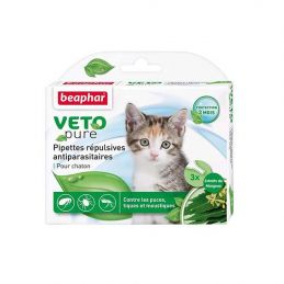 Pipettes antiparasitaires VetoPure chaton BEAPHAR 8711231156153 Pipettes et spray