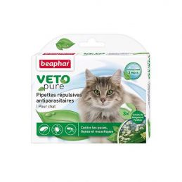 Pipettes antiparasitaires VetoPure chat BEAPHAR 8711231156160 Pipettes et spray