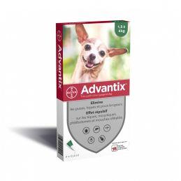 Advantix antiparasitaire chien 1.5-4kg ADVANTIX  Pipettes