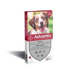 Advantix antiparasitaire chien 10-25kg ADVANTIX  Pipettes