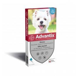 Advantix antiparasitaire chien 4-10kg ADVANTIX  Pipettes