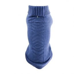 Pull tricot bleu ethnic Martin Sellier