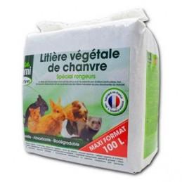 Hami Litière végétale de chanvre 100 L HAMI 3469980006032 Litière, foin, paille