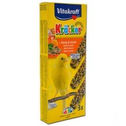 Vitakraft 3 Kräcker Canaris au miel & sésame VITAKRAFT VITOBEL 4008239212511 Canaris