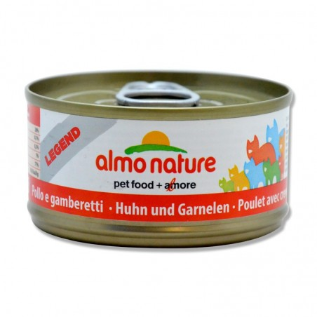 Terrine pour Chat Almo Nature Legend Poulet & Crevettes lot de 6