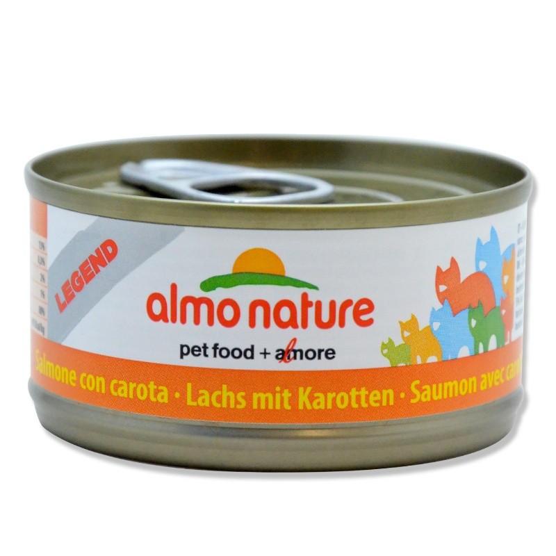 Terrine pour Chat Almo Nature Legend Saumon & Carottes lot de 6 ALMO NATURE 8001154102574 Boîtes, sachets pour chats