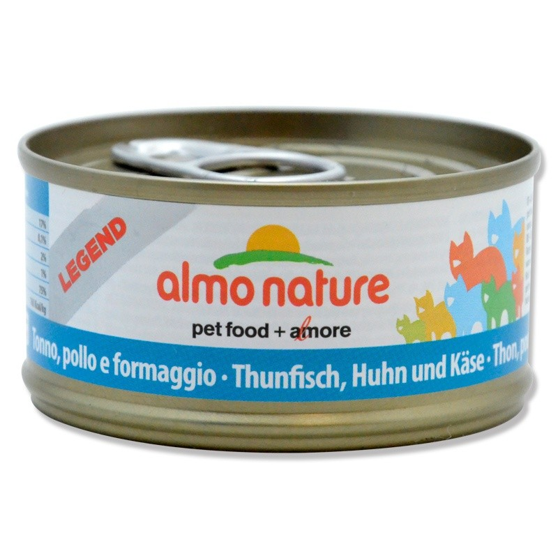 Terrine Almo Nature Legend Thon, Poulet & Fromage ALMO NATURE 8001154001532 Boîtes, sachets pour chats