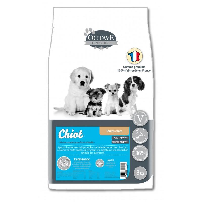 Croquettes Octave Prestige Chiot Mini 3 kg Octave  3760185060653 Alimentation chiot