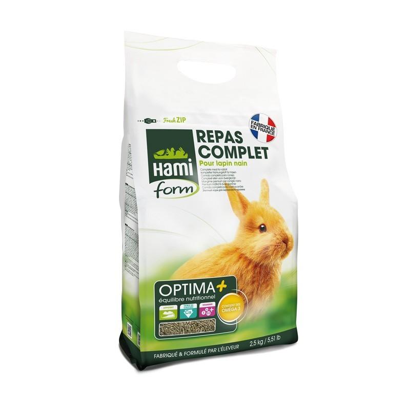 Hami Form Repas Complet pour Lapin nain 2,5 kg HAMI 3469980000177 Alimentation