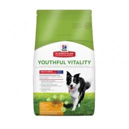 Hill's Canine Adult 7+ Youthful Vitality Poulet & Riz Medium 10 kg HILL'S 052742015835 Croquettes Hill's