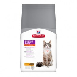Hill's Feline Adult Poulet Sensitive Stomach & Skin 1.5 kg HILL'S 052742017242 Croquettes Hill's