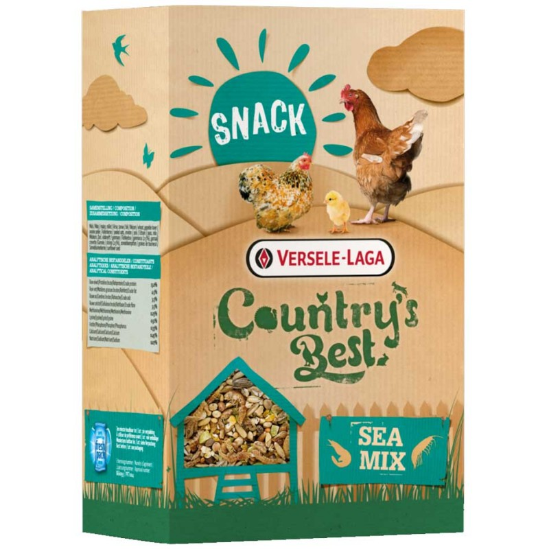 Country Best Snack Sea Mix  VERSELE LAGA 5410340512203 Alimentation Basse cour