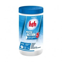 Maxitab Action 5 Chlore stabilisé multifonction galet 200g HTH Advanced 3521686003538 Produits nettoyage piscine