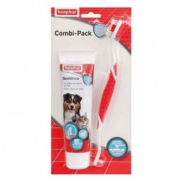 Beaphar Combi-Pack : Brosse à dents & dentifrice BEAPHAR 8711231155040 Hygiène bucco-dentaire