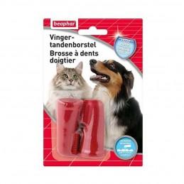 Beaphar Brosse à dents doigtier chien & chat  BEAPHAR 8711231136605 Hygiène bucco-dentaire