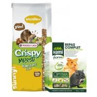 Alimentation pour hamsters sur votre boutique en ligne Exotus.