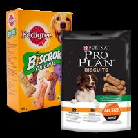 Friandise chien : os à mâcher et biscuits pour chien et chiots