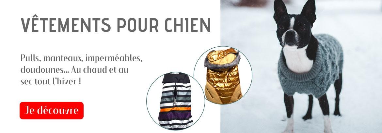 Vêtements pour chien : Un hiver au chaud et au sec avec un pull, manteau, imperméable, doudoune !